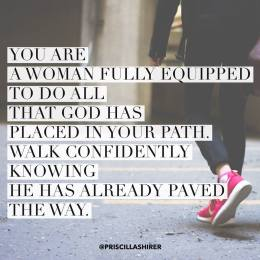Walk confidently